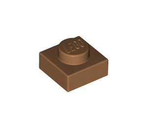 LEGO Medium Dark Flesh Plate 1 x 1 (3024)