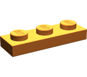 LEGO Medium Dark Flesh Plate 1 x 3 (3623)