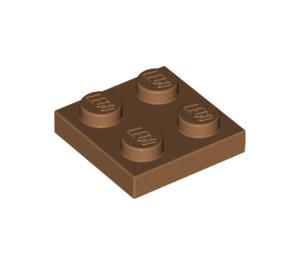LEGO Medium Dark Flesh Plate 2 x 2 (3022)