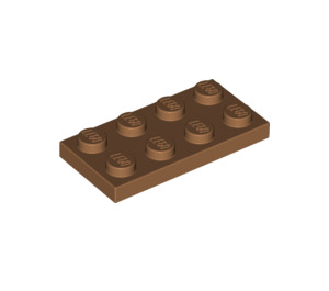 LEGO Medium Dark Flesh Plate 2 x 4 (3020)