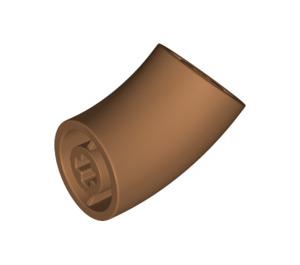 LEGO Medium Dark Flesh Round Brick with 45 Degree Elbow (65473)