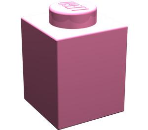 LEGO Medium Dark Pink Brick 1 x 1 (3005)