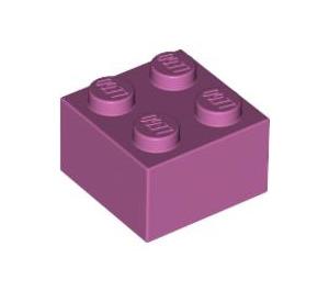 LEGO Medium Dark Pink Brick 2 x 2 (3003)