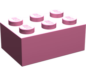 LEGO Medium Dark Pink Brick 2 x 3 (3002)