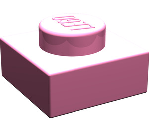 LEGO Medium Dark Pink Plate 1 x 1 (3024)