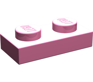 LEGO Medium Dark Pink Plate 1 x 2 (3023)