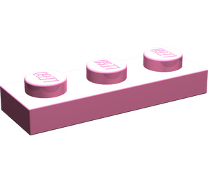 LEGO Medium Dark Pink Plate 1 x 3 (3623)
