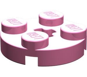 LEGO Medium Dark Pink Plate 2 x 2 Round with Axle Hole (with '+' Axle Hole) (4032)