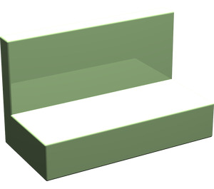 LEGO Medium Green Panel 1 x 2 x 1 without Rounded Corners (4865)