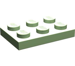 LEGO Medium Green Plate 2 x 3 (3021)