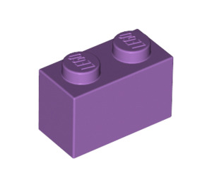 LEGO Medium Lavender Brick 1 x 2 (3004)
