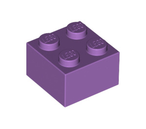LEGO Medium Lavender Brick 2 x 2 (3003)