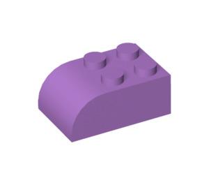 LEGO Medium Lavender Brick 2 x 3 with Curved Top (6215)