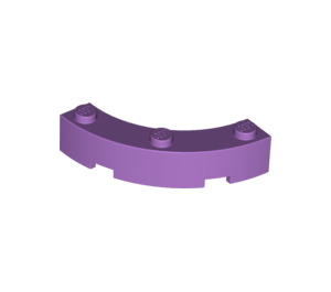 LEGO Medium Lavender Brick Corner 4 x 4 (Wide with 3 Studs) (48092)