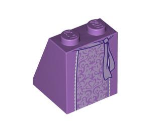 LEGO Medium Lavender Fairytale Princess Slope 65° 2 x 2 x 2 with Centre Tube (18310)