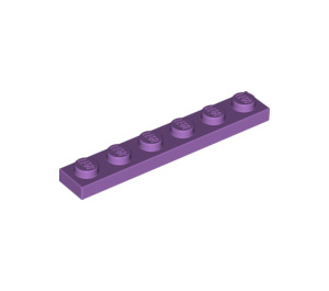 LEGO Medium Lavender Plate 1 x 6 (3666)