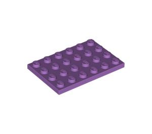 LEGO Medium Lavender Plate 4 x 6 (3032)