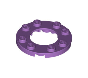 LEGO Medium Lavender Plate Round 4 x 4 with Ø16mm Hole (11833)