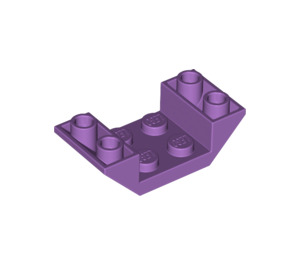 LEGO Medium Lavender Slope 2 x 4 (45°) Double Inverted with Open Center (4871)