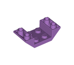 LEGO Medium Lavender Slope 45° 4 x 2 Double Inverted with Open Center (4871)