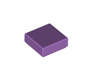 LEGO Medium Lavender Tile 1 x 1 with Groove (3070)