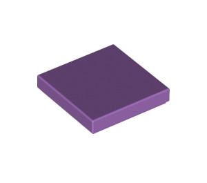 LEGO Medium Lavender Tile 2 x 2 with Groove (3068)