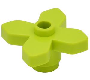 LEGO Medium Lime Flower 2 x 2 with Angular Leaves (4727)