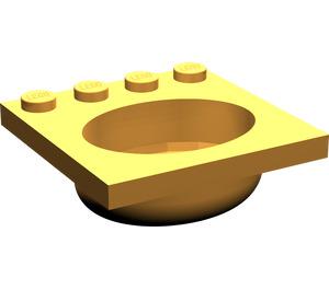 LEGO Medium Orange Belville Sink 4 x 4 Oval