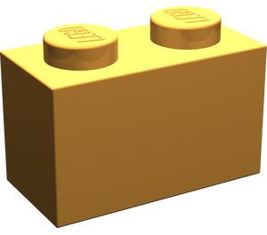 LEGO Medium Orange Brick 1 x 2 (3004)