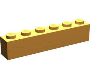 LEGO Medium Orange Brick 1 x 6 (3009)