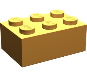 LEGO Medium Orange Brick 2 x 3 (3002)