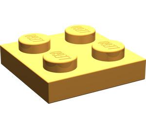 LEGO Medium Orange Plate 2 x 2 (3022)