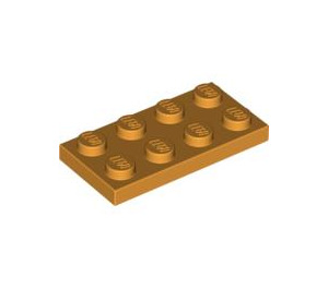 LEGO Medium Orange Plate 2 x 4 (3020)