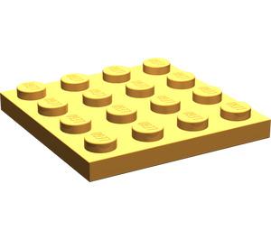 LEGO Medium Orange Plate 4 x 4 (3031)