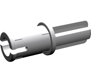 LEGO Medium Stone Gray Axle to Pin Connector with Friction