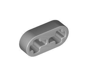 LEGO Medium Stone Gray Beam 2 x 0.5 with Axle Holes (41677)
