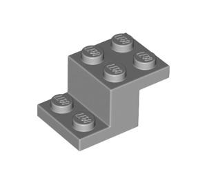 LEGO Medium Stone Gray Bracket 2 x 3 with Plate and Step (18671)