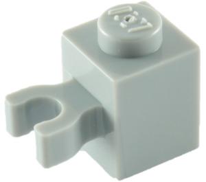 LEGO Medium Stone Gray Brick 1 x 1 with Vertical Clip ('U' Clip, Solid Stud) (60475)