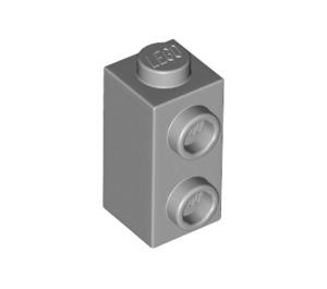 LEGO Medium Stone Gray Brick 1 x 1 x 1.3 with Two Side Studs (32952)