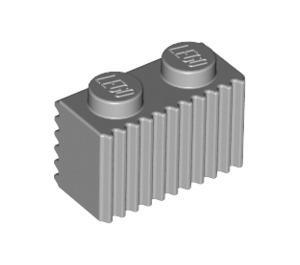 LEGO Medium Stone Gray Brick 1 x 2 with Grille (2877)