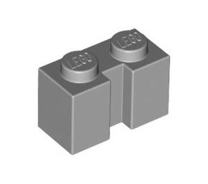 LEGO Medium Stone Gray Brick 1 x 2 with Groove (4216)