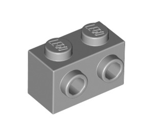 LEGO Medium Stone Gray Brick 1 x 2 with Studs on One Side (11211)