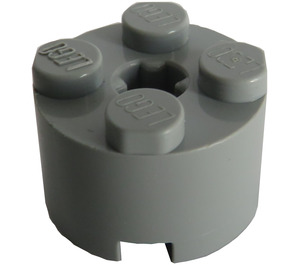 LEGO Medium Stone Gray Brick 2 x 2 Round (6143)