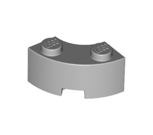 LEGO Medium Stone Gray Corner Brick 2 x 2 with Stud Notch and Reinforced Underside (85080)