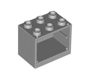 LEGO Medium Stone Gray Cupboard 2 x 3 x 2 with Recessed Studs (92410)