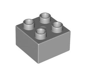 LEGO Medium Stone Gray Duplo Brick 2 x 2 (3437 / 89461)