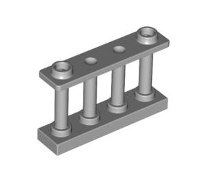 LEGO Medium Stone Gray Fence Spindled 1 x 4 x 2 with 2 Top Studs (30055)
