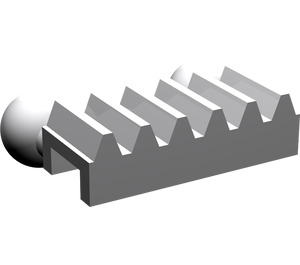 LEGO Medium Stone Gray Gear Rack with Two Ball Joints (6574)