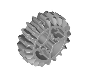 LEGO Medium Stone Gray Gear with 20 Teeth and Double Bevel Unreinforced (32269)