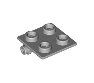 LEGO Medium Stone Gray Hinge 2 x 2 Top (6134)